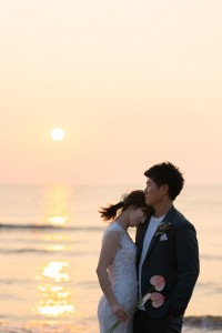 【sunset photo Wedding】